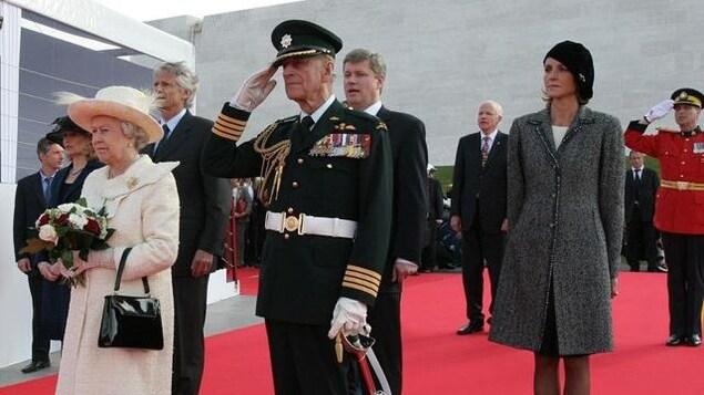 Le prince Philippe, lors d'une visite au Canada.