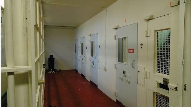 L'unité d'isolement de la prison de North Bay.