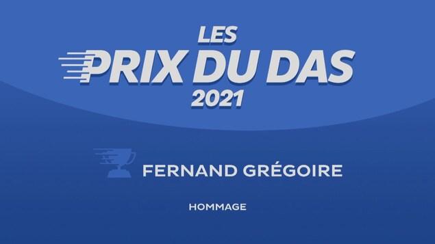 Affiche Les Prix du DAS hommage à Fernand Grégoire