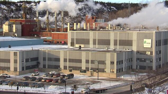 L'usine de papier à Baie-Comeau