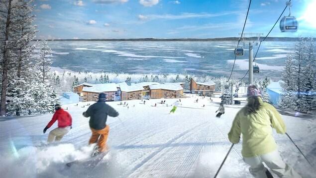 Schéma du projet du Club Med au pied du Massif