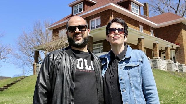 Les propriétaires de la Villa Sainte-Marie, en Beauce, Khaled Hadef et sa conjointe Marie-France Canuel.