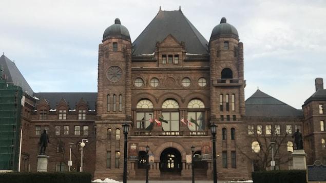 L'édifice de l'Assemblée législative à Toronto.