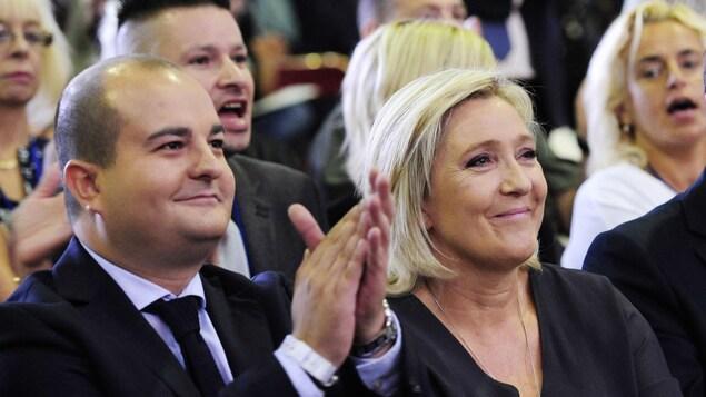 David Rachline, sénateur et maire de Fréjus, directeur de la campagne à la présidence de Marine Le Pen.