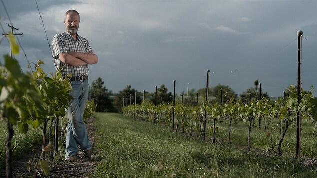 Charles-Henri de Coussergues au vignoble de L'Orpailleur, à Dunham au Québec