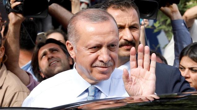 Le président sortant Recep Tayyip Erdogan.