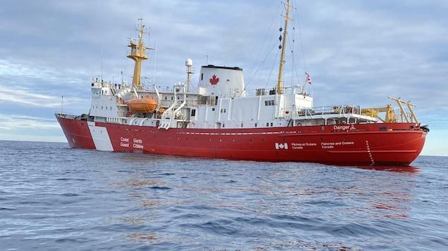 Un navire de la Garde côtière canadienne.