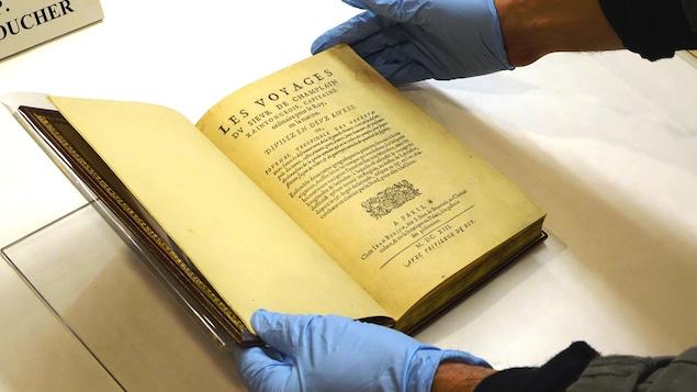 Récits de voyage, de Samuel de Champlain, 1613. Collection BAnQ.