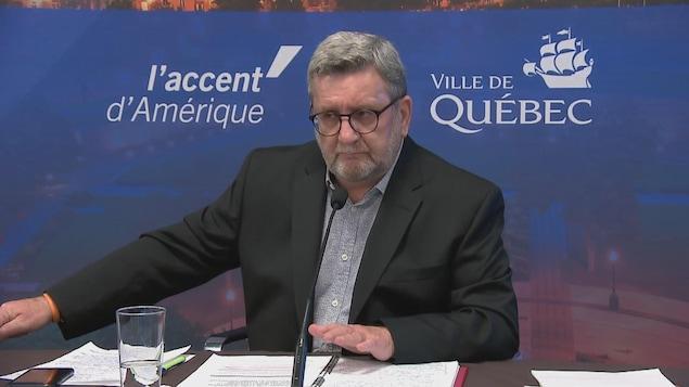 Régis Labeaume en conférence de presse, le 29 septembre 2020.