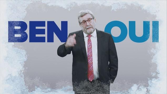 Régis Labeaume prend la parole dans une publicité pour vendre le projet de réseau de tramway à Québec.