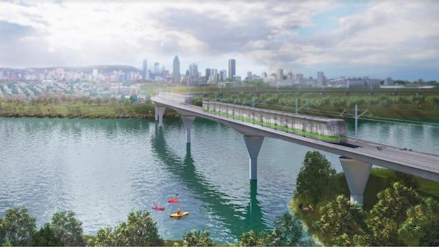 Le futur train du Réseau express métropolitain