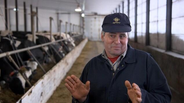Renaud Lachance, producteur laitier