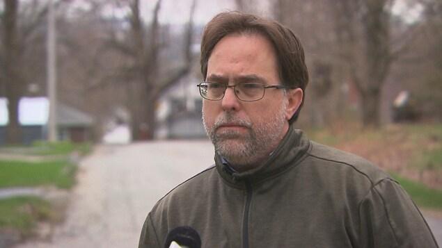 Le maire de Danville, Michel Plourde en entrevue.