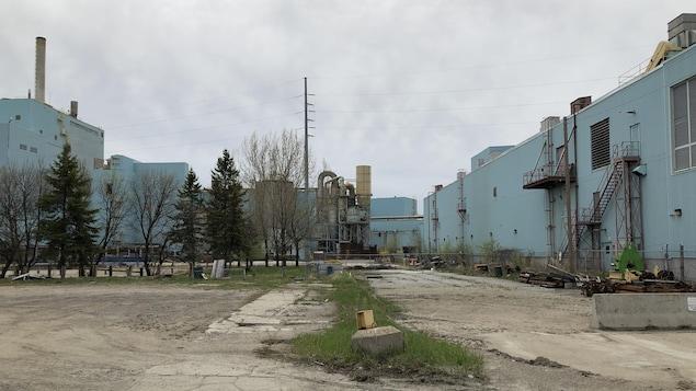 L'usine de pâte et papier à Fort Frances.