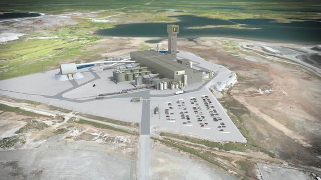 Un plan en 3D du projet de mine Horne 5.