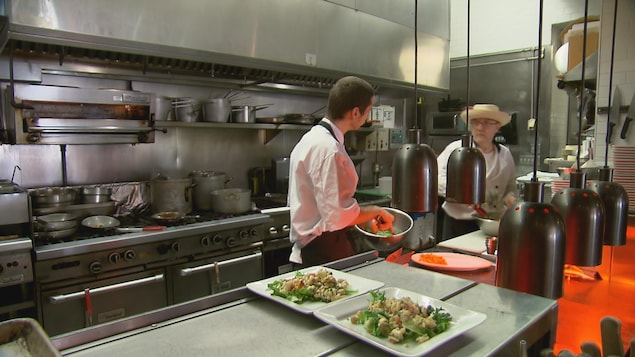 La cuisine du restaurant Les Frères de la Côte à Québec