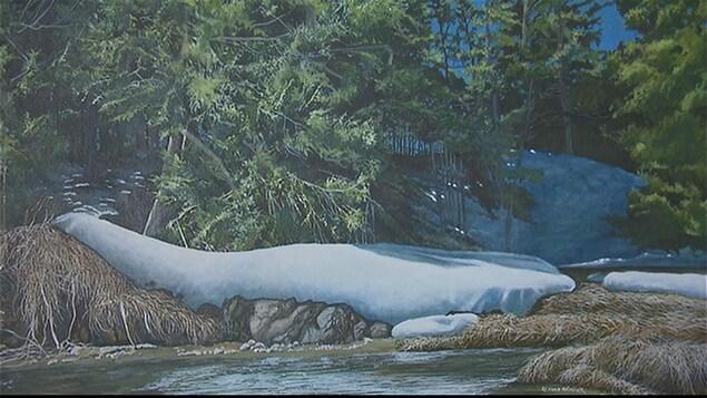 Une oeuvre du peintre Richard Bélanger