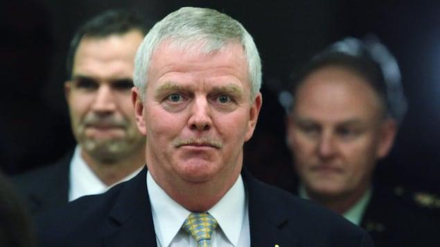 Le général Rick Hillier arrive à une audience du comité spécial sur l'Afghanistan, en novembre 2009.