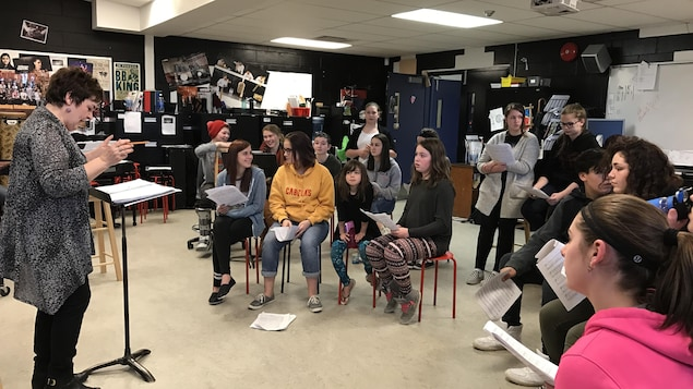 Les jeunes de la chorale RINNOVO en répétition