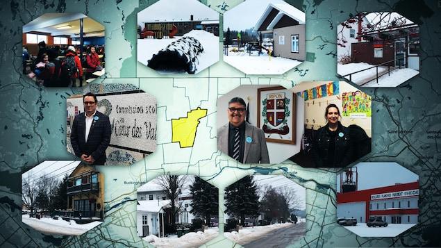 Une mosaïque de photos de Ripon et de ses résidents.