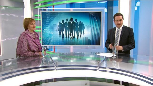 L'économiste Rita Dionne-Marsolais en entrevue avec Gérald Fillion