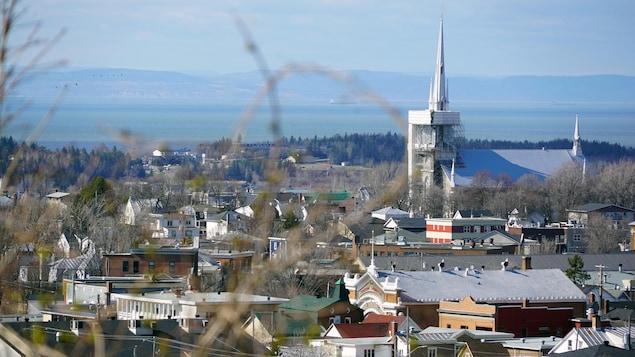 Le centre-ville de Rivière-du-Loup.