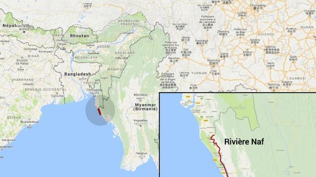 La rivière Naf est une frontière naturelle entre le Bangladesh et le Myanmar.