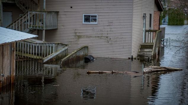 Une résidence inondée.