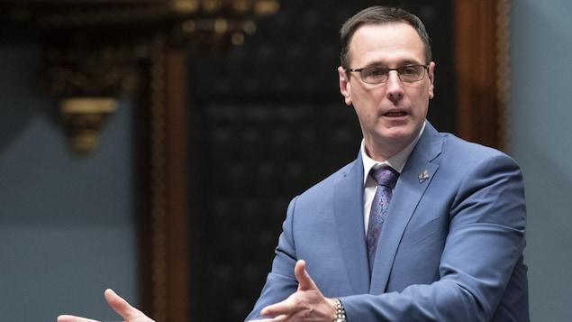 Jean-François Roberge à l'Assemblée nationale.