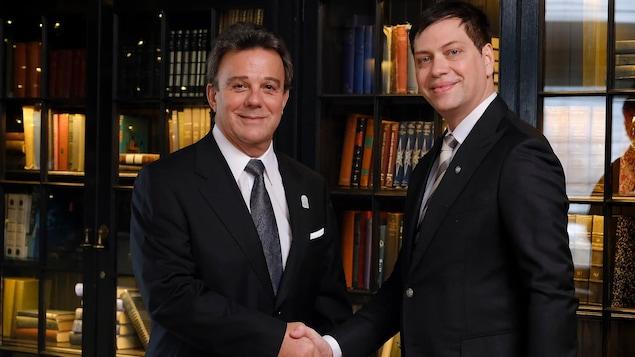 Robert Mercure, Directeur Général du Fairmont Le Château Frontenac et Steve Barakatt