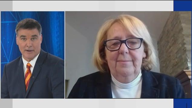Roger Lemay en entrevue avec Nicole Bouchard.