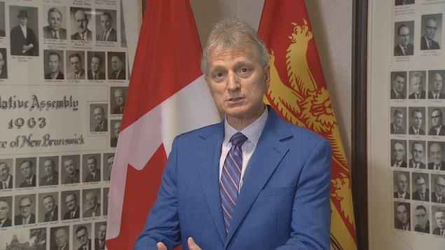Le chef intérimaire du Parti libéral du Nouveau-Brunswick, Roger Melanson.