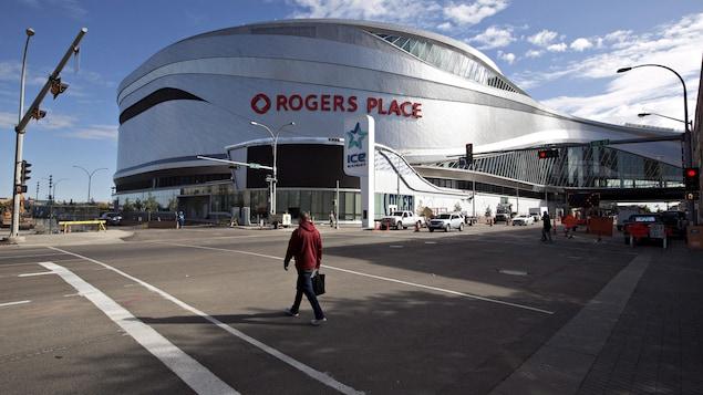 Le Rogers Place, le nouvel amphithéâtre qui accueille les Oilers d'Edmonton.