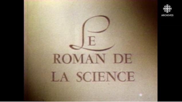 Titre le roman de la science écrit à l'écran