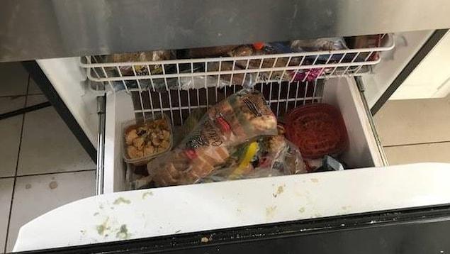 Le tiroir du congélateur
