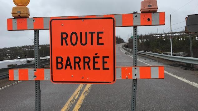 Le chemin de la Baie-de-Kipawa est fermé en raison d'inondations