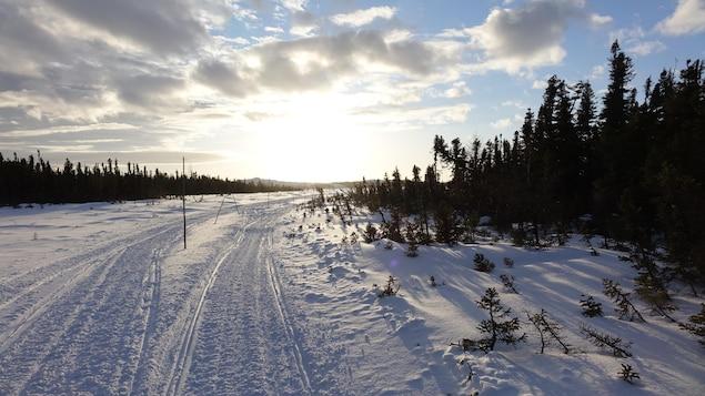 La Route blanche entre Kegaska et Unamen Shipu