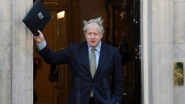 Boris Johnson au 10, Downing Street.