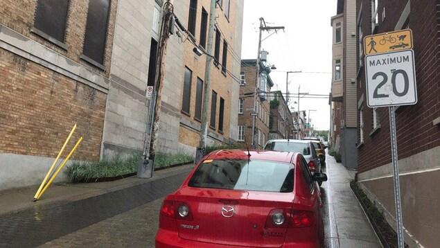 La rue Sainte-Claire est une rue «partagée» depuis 2013.