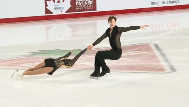 Camille Ruest et Drew Wolfe aux championnats nationaux de Vancouver
