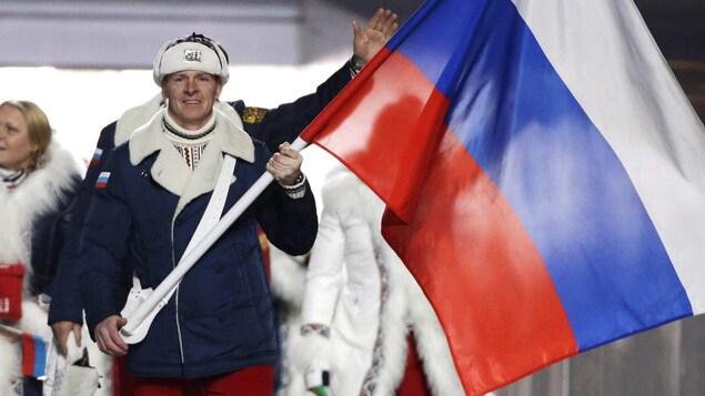 Des athlètes russes aux Olympiques.