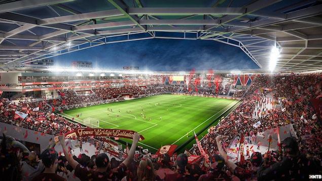 Esquisse du futur stade du Sacramento Republic FC