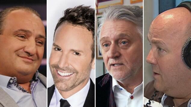 Giovanni Apollo, Éric Salvail, Gilbert Rozon et Gilles Parent