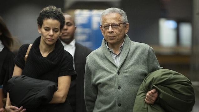 Arrivée de Sami Bebawi au tribunal.