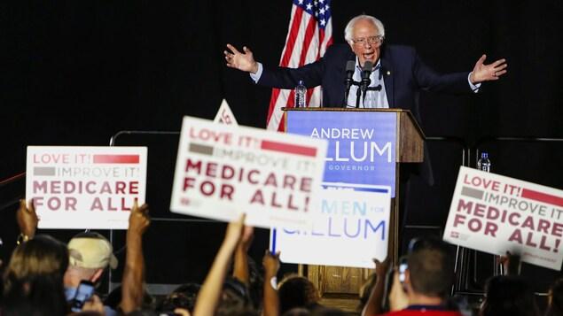 Le sénateur Bernie Sanders lors des élections de mi-mandat en 2018. Il a confirmé mardi qu'il se lançait dans la course à l'investiture démocrate en vue des élections présidentielles de 2020.