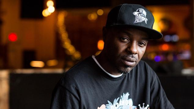 Portrait du rappeur SP, de son vrai nom Kamenga Mbikay.