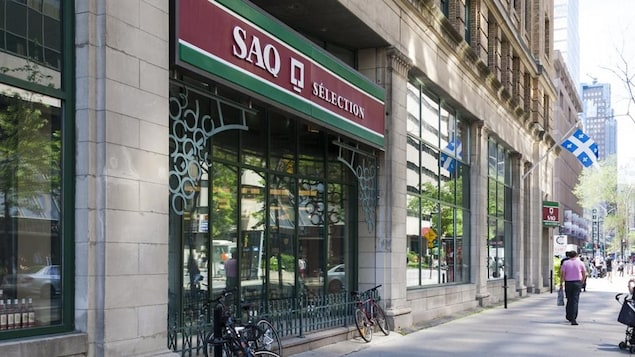 Une succursale de la Société des alcools du Québec.