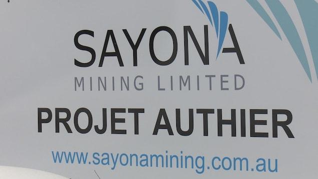 Le projet Authier de Sayona Mining.