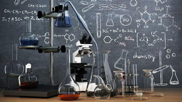 Des instruments de laboratoire scientifique