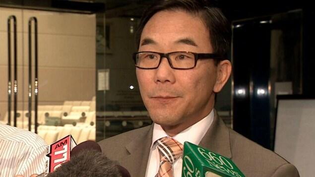 Sean Chu en point de presse.